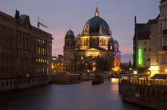 Berliner Dom and the River Spree in Berlin - stock photo