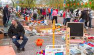 Stock Photo of typical dutch flea market on queen's day