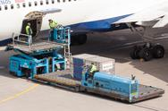 Stock Photo of boeing 767-332er of delta is being loaded