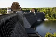 Stock Photo of The Mohne Dam (Möhne Dam) in the Ruhr Valley - Germany.