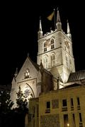 Southwark Cathedral at Night - stock photo