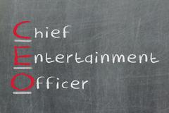Acronym of ceo - chief entertainment officer Stock Photos