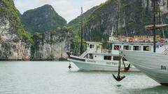 Ha long bay, vietnam aug 10, 2012. tourist boats in ha long bay. ha long bay  Stock Photos