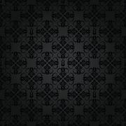 Seamless black small elements wallpaper Stock Illustration