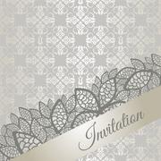 Silver special occasion invitation - stock illustration