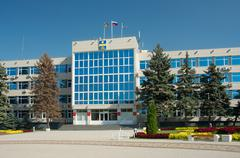 administration building of anapa - stock photo