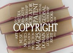 Stock Illustration of copyright word cloud concept