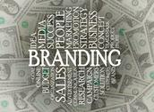 Stock Illustration of branding word cloud