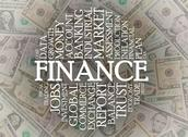 Stock Illustration of finance word cloud