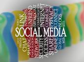 Stock Illustration of word cloud social media