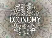 Stock Illustration of economy word cloud