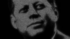 JFK animation Stock Footage