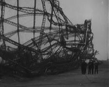 Hindenburg aftermath - stock footage