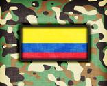 Stock Illustration of amy camouflage uniform, colombia