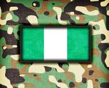 Stock Illustration of amy camouflage uniform, nigeria