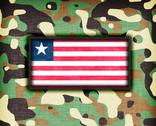 Stock Illustration of amy camouflage uniform, liberia