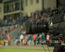 Live broadcast of football matches. Stock Footage