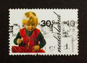 Stock Photo of holland - circa 1970: stamp printed in the netherlands