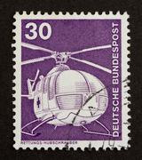 germany - circa 1980: stamp printed in germany - stock photo
