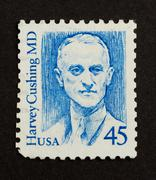usa - circa 1985: stamp printed in the usa - stock photo