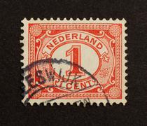 Hollanti - noin 1940: leima painettu Alankomaat Kuvituskuvat