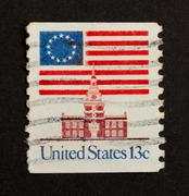 usa - circa 1975: stamp printed in the usa - stock photo