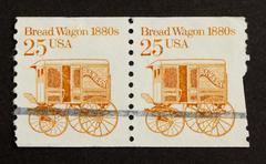 usa - circa 1975: stamp printed in the usa - stock photo
