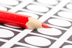 red pencil used for voting - stock illustration