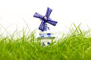 Stock Photo of dutch mini porcelain windmill
