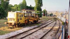 Suburbans train railways. Timelapse Stock Footage