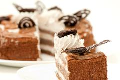 piece of fresh and sweet dessert cakes - stock photo