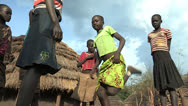 Stock Video Footage of Didinga Children Play a jumping Game