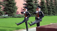 Stock Video Footage of Soldier stepping to the Eternal Flame, The Kremlin, Moscow