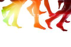 Close-up of running feet - stock illustration