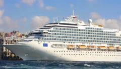 Luxury Cruise Ship - stock footage