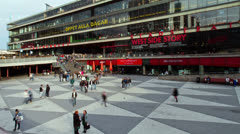 Sergels Torg square, Stockholm, time-lapse Stock Footage