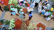 Stock Video Footage of Vendors in African market Cape Verde Archipelago,