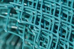 Green plastic fence Stock Photos