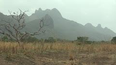 Misty Mountain Scene in Budi County Stock Footage
