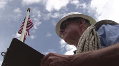 American worker, lineman Stock Footage