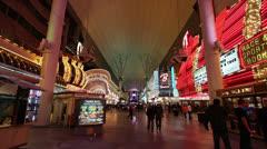 General View of Fremont Street, Las Vegas Stock Footage