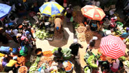 Stock Video Footage of Vendors African street market Cape Verde Archipelago,