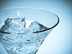 Martini glass wiht ice Stock Photos