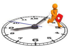 Doctor clock Stock Illustration