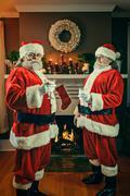 Good and bad santa's Stock Photos