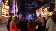 Band Playing at Fremont Street Experience, Las Vegas Stock Footage