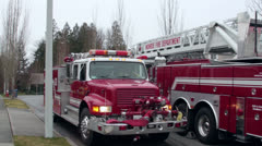 Fire rescue vehicles Stock Footage