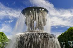 vigeland sculpture arrangement, frogner park, oslo, norway - stock photo