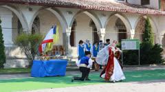 Crimean Tatar national dance - stock footage
