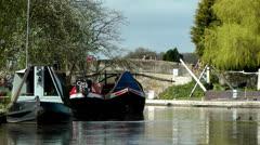 Narrow Boats Stock Footage